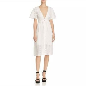 ASTR The Label White Eyelet Midi Dress S